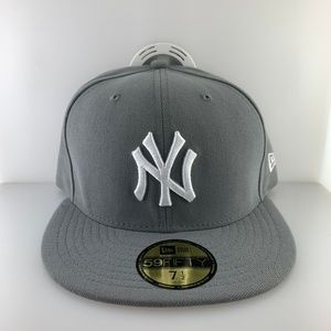 New Era Cap New York Yankees Grey White Size 7 1/2